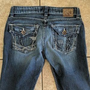 BKE Stella bootcut jeans Buckle sz 27x33L euc